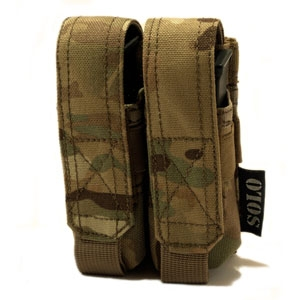 SOLO ATP MOLLE Double 9mm Pouch - Camouflage Store