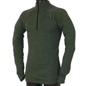 USSEN Baltic Norj Zipped Polo (Olive)
